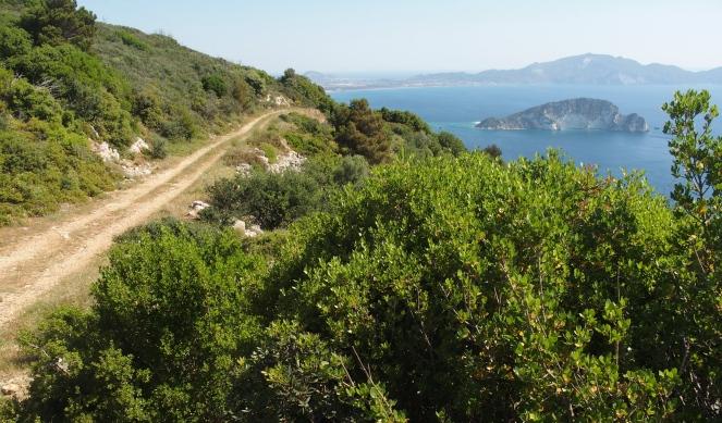 The road to Laganás bay
