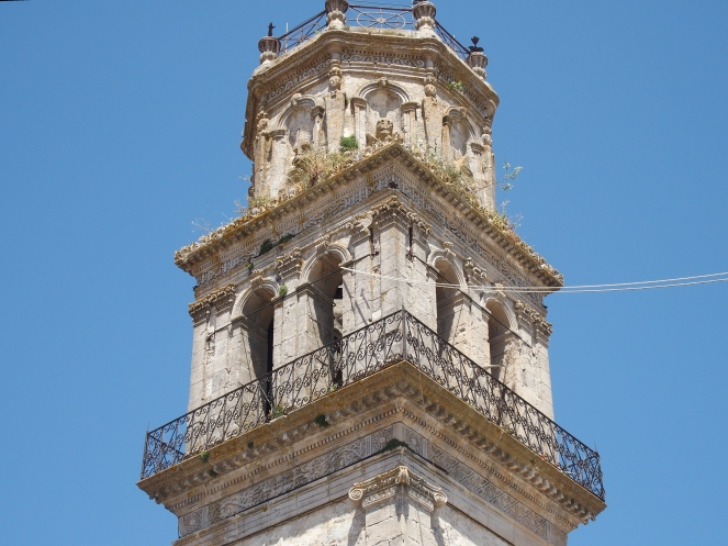 The Venetian bell tower of Ágia Mávre, Kilioménos