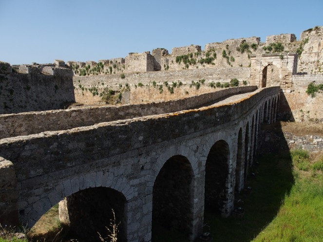 Methoni bridge over the moat