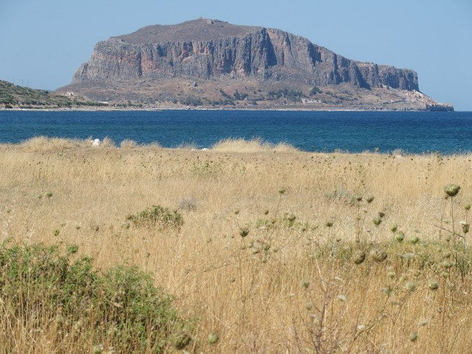 Monemvasia - you can see the walled town on the right